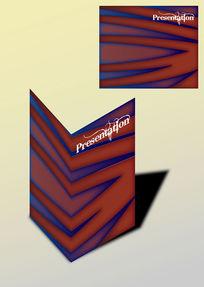 红蓝唯美书籍画册封面