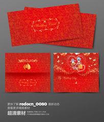 红色中国风婚礼请帖