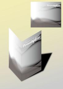 灰白时尚书籍画册封面