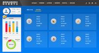 蓝色清爽后台UI主界面设计 PSD