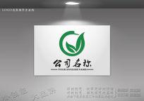 天鹅形象绿叶标志设计 CDR