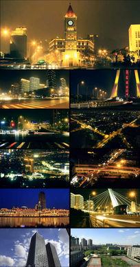天津城市夜景高清实拍视频
