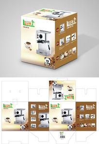 高端出口打咖啡机包装设计