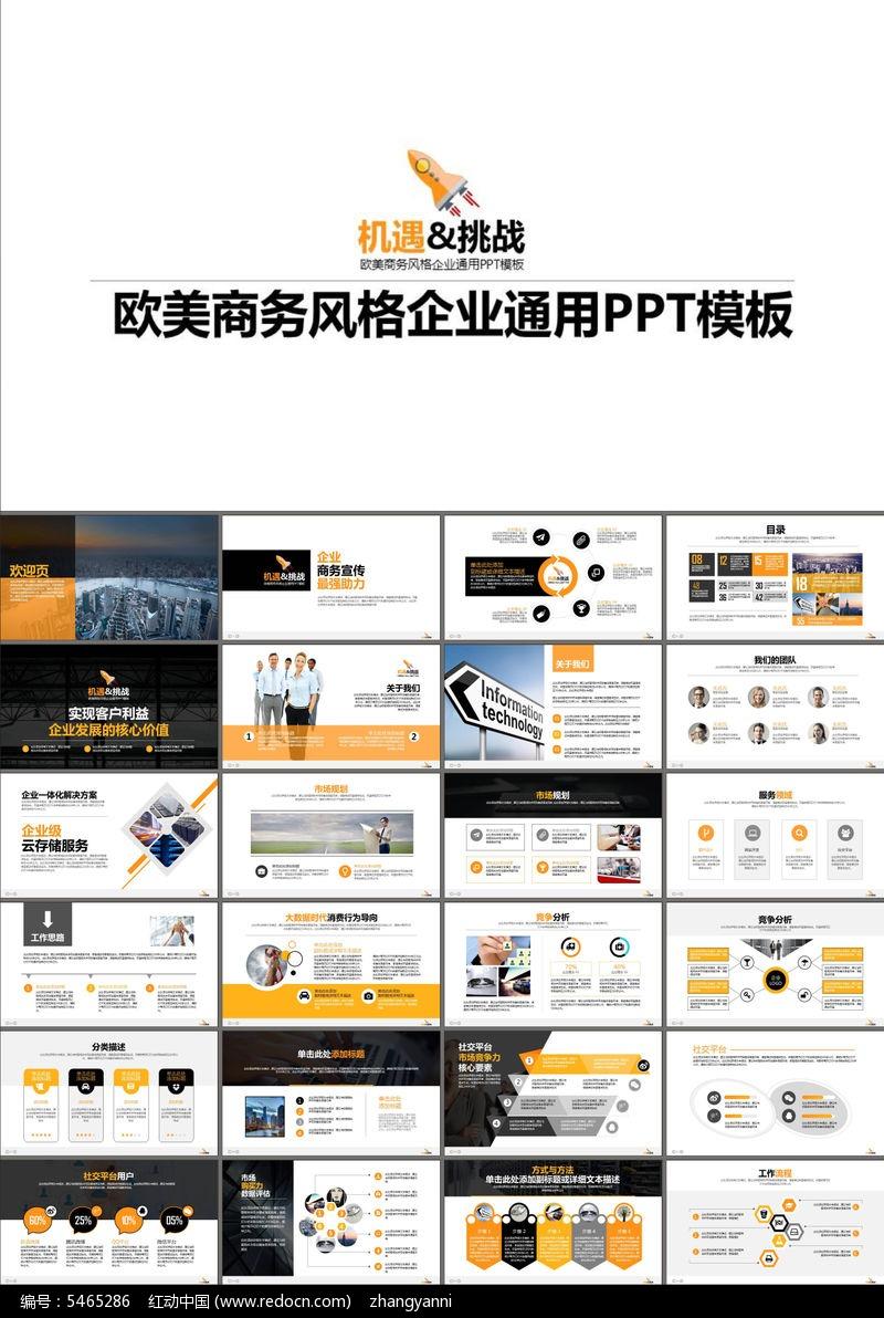 商业计划书经营报告品牌宣传ppt模板