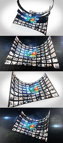 照片墙logo标志开场模板