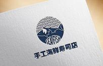 创意寿司店logo