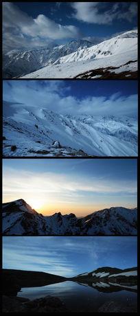 高清雪山拍摄