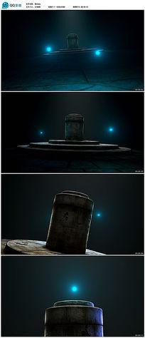古老神秘石柱基座视频素材