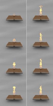 书上火焰燃烧