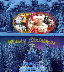 ae圣诞节相册模板
