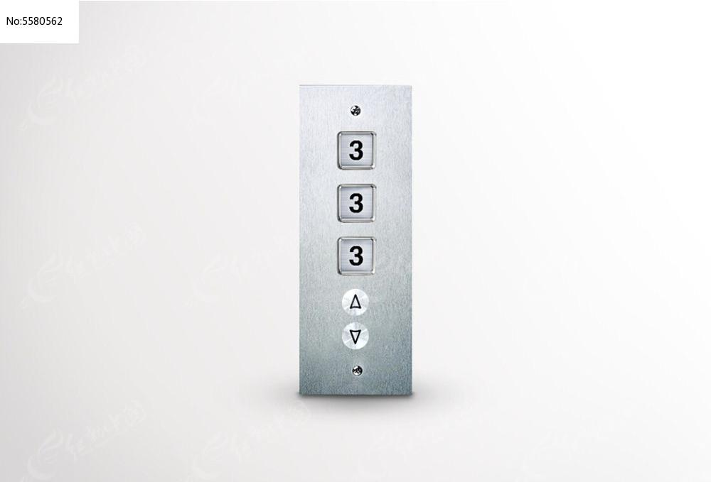 电梯按钮创意广告图片