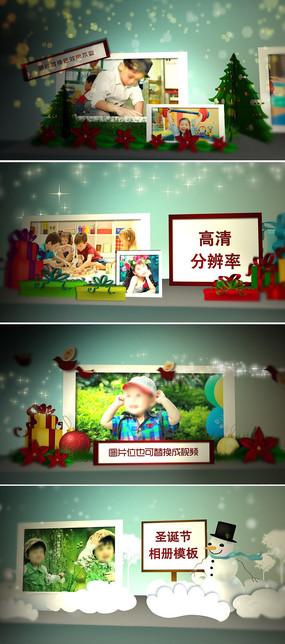圣诞节翻页ae相册模板