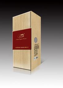 红酒木盒包装效果图