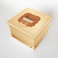 金色蛋糕盒插图
