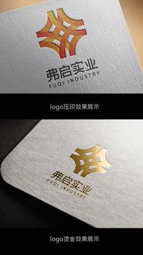 金色弗启实业logo