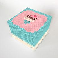 蓝色蛋糕盒 PSD