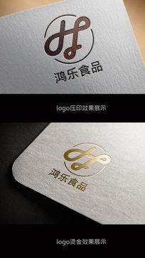 时尚鸿乐食品logo