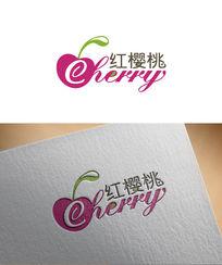 樱桃蛋糕店标志