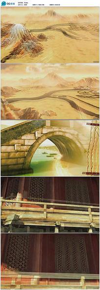 3d中国风大气宫殿复原视频