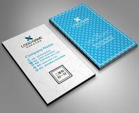 白色蓝色名片模板名片设计简洁高端大气名片