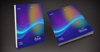 弧线蓝色科技公司产品封面