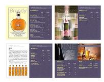 时尚简洁酒吧酒水单画册psd格式