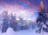 唯美紫色圣诞贺卡背景