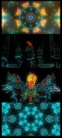 荧光动感舞蹈万花筒视频