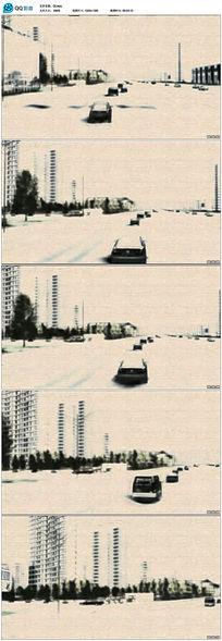 中国风水墨城市视频
