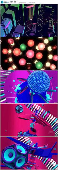 3D液体空间动感节奏LED背景视频