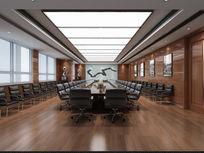 高端工装会议室3D模型
