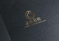 金色金融字母logo AI