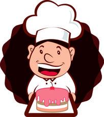卡通男孩蛋糕店LOGO