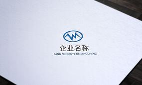 蓝色电子科技公司logo
