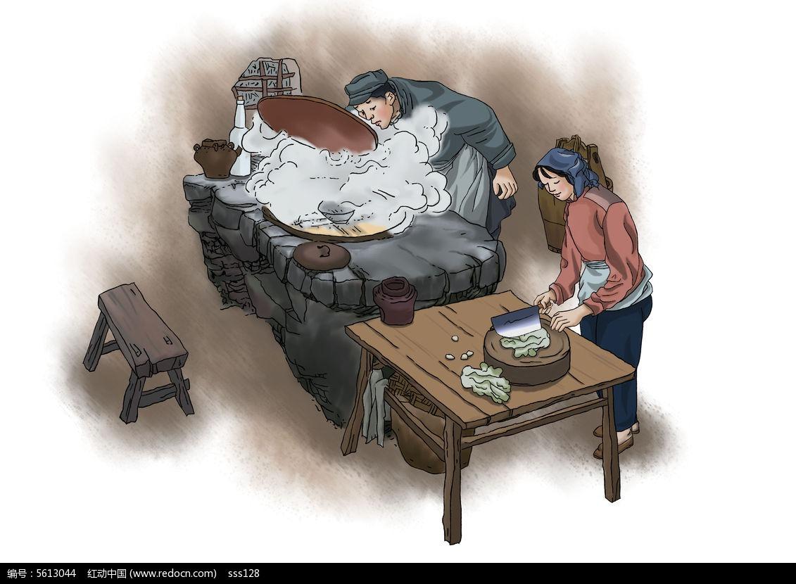 原创手绘做菜插画设计