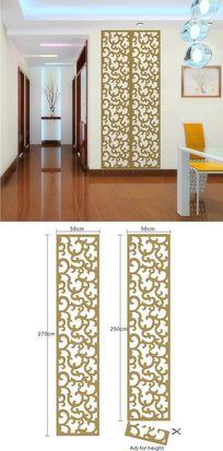 中式传统花纹墙面装饰