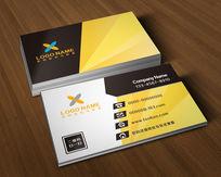 广告公司名片设计二维码名片模板黑黄色