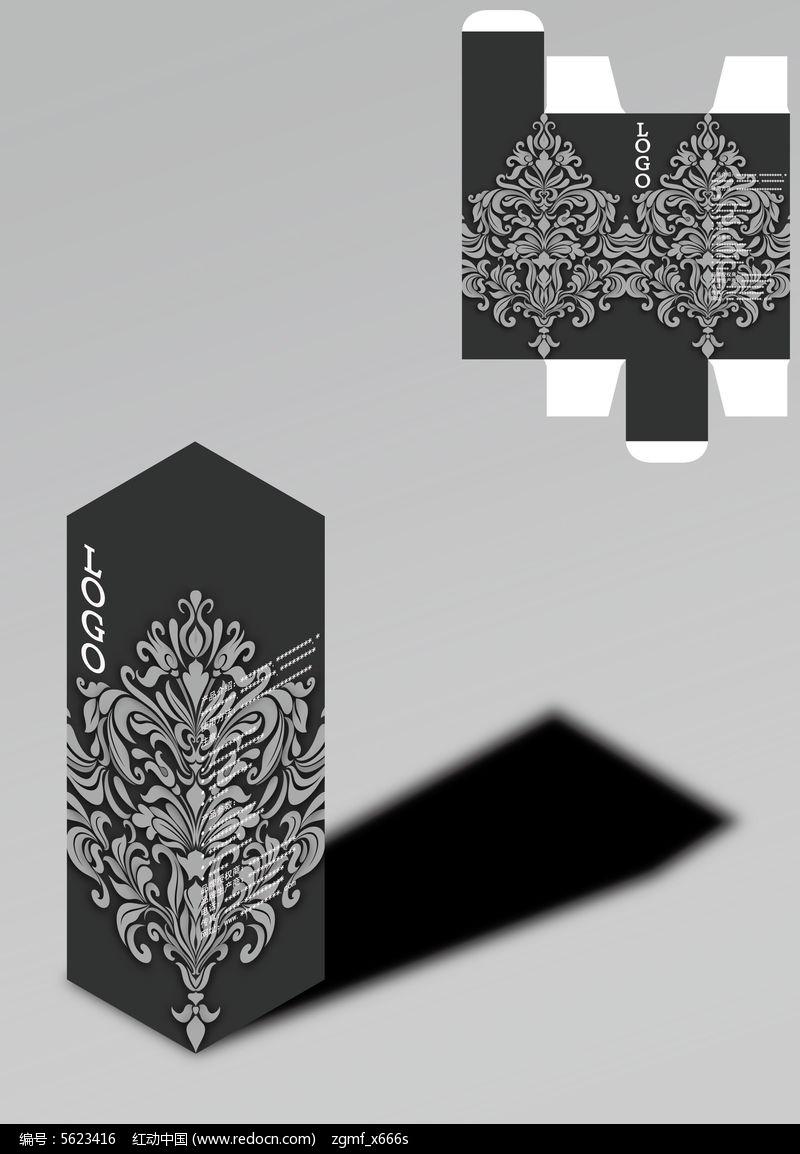 复古欧式花纹包装盒模板