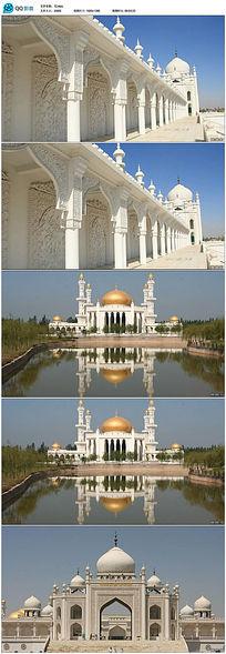 高清实拍清真寺视频
