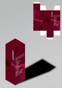 几何商务红色包装盒模板
