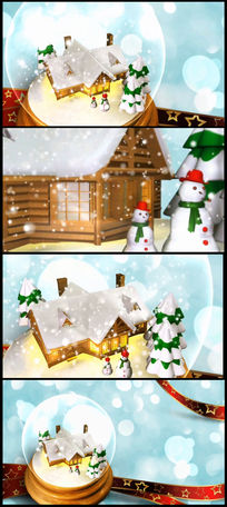 2016唯美圣诞雪景LED视频