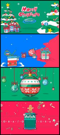创意欢快节奏圣诞快乐礼物视频