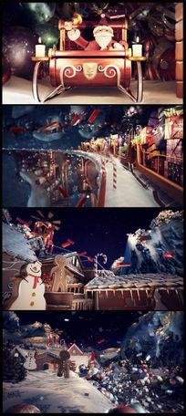 动感圣诞节立体3D创意视频