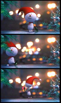 卡通雪人视频素材