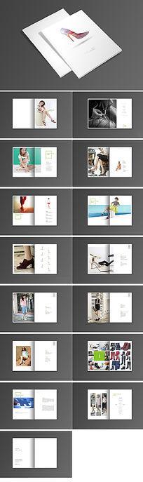 时尚女鞋画册设计模板