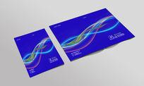 高端浅蓝色现代科技公司封面