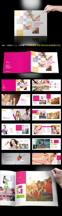 粉红色女性美容画册
