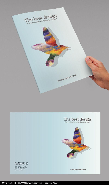 白色简洁创意书籍封面