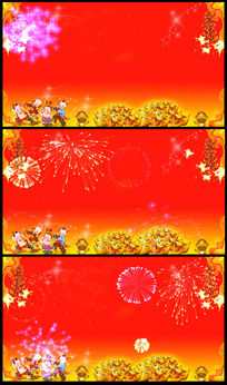 猴年春节新年LED视频背景