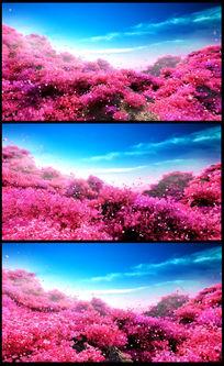 浪漫温馨桃花林花瓣晚会高清视频素材
